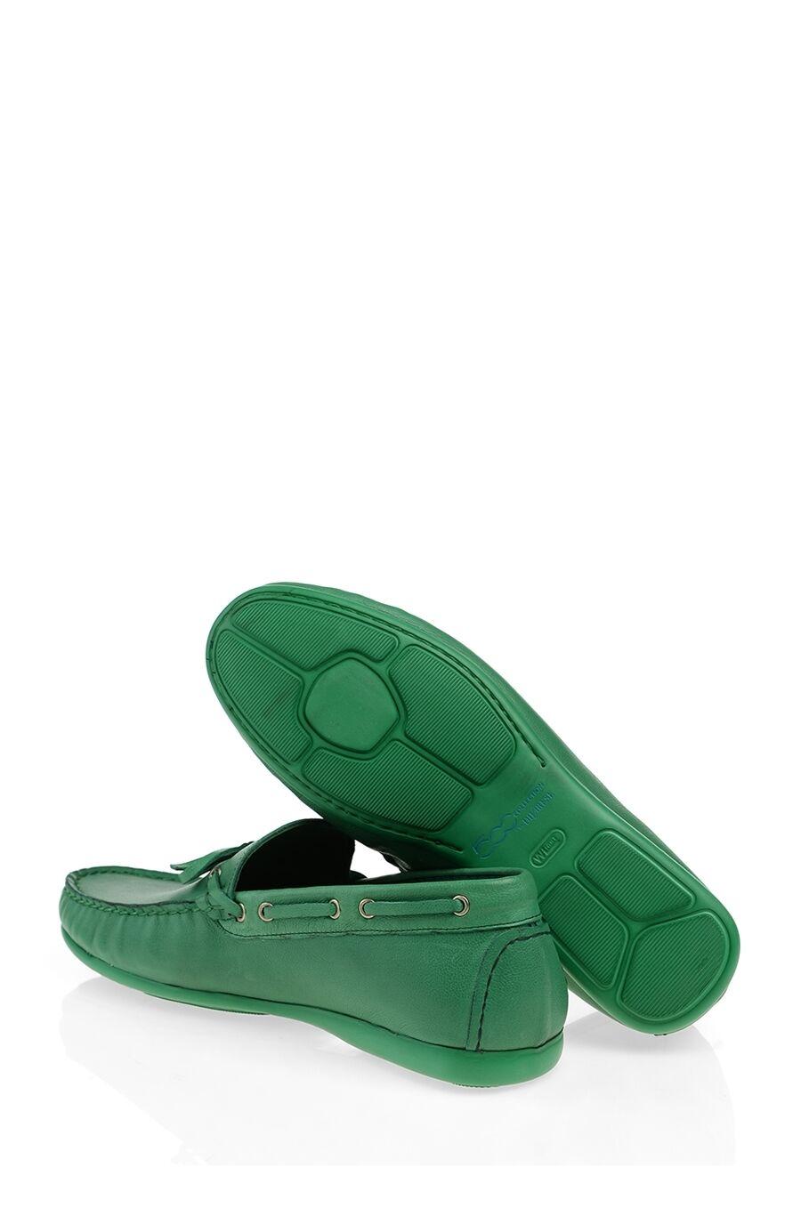 Yeşil Deri Loafer