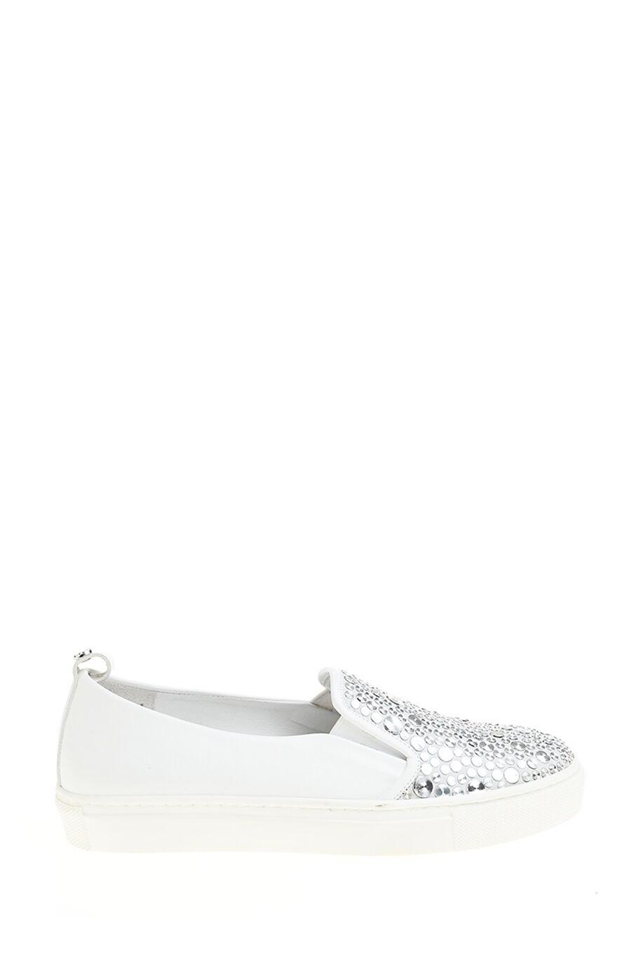 Metal Detaylı Beyaz Sneaker