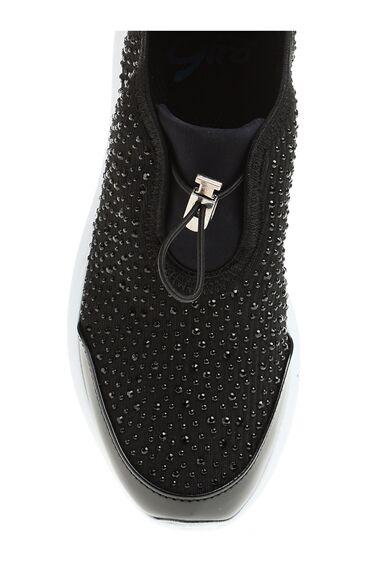 Taş Detaylı Siyah Sneaker