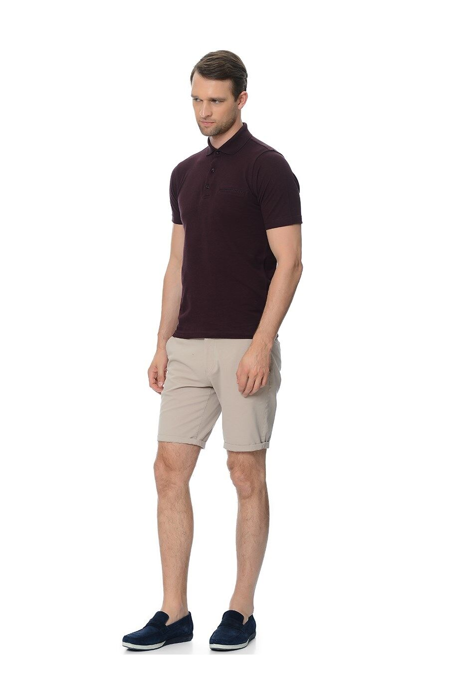 Bordo Polo Yaka Tshirt