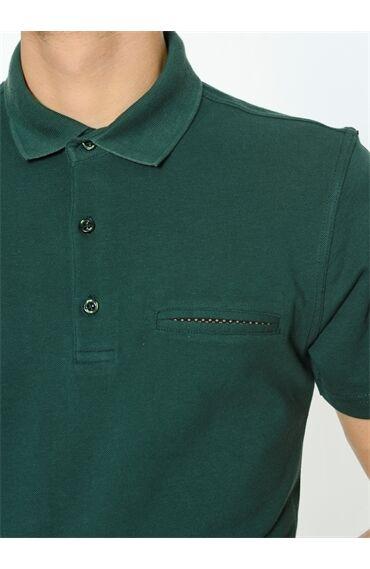 Polo Yaka Yeşil Tshırt