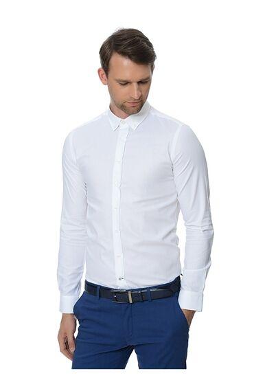 Oxford Slim Fit Beyaz Gömlek