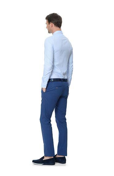 Oxford Slım Fit Mavi Gömlek