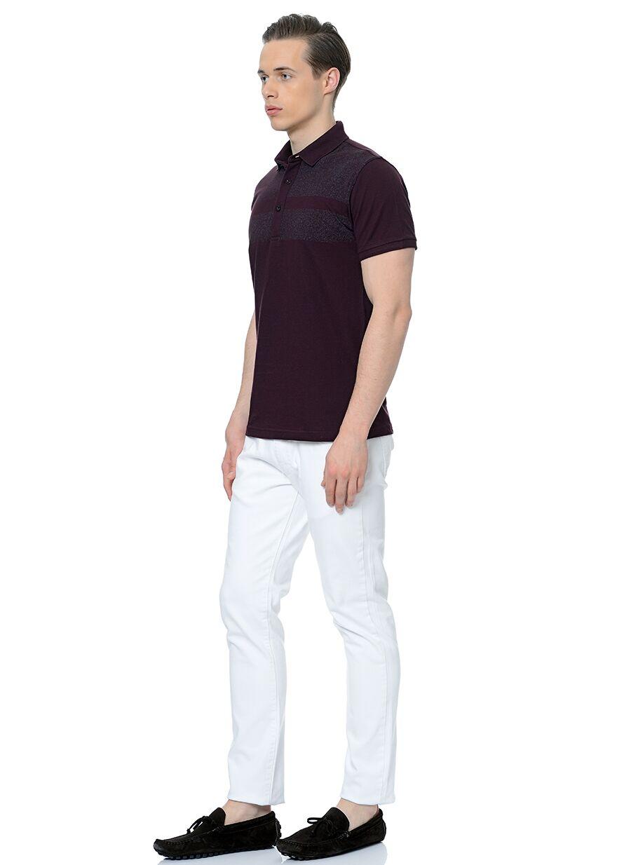 Polo Yaka Bordo Tshirt