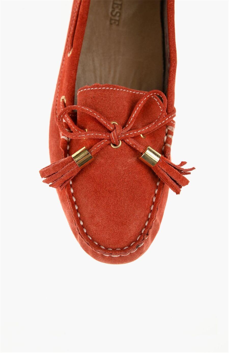 Süet Kırmızı Loafer Ayakkabı