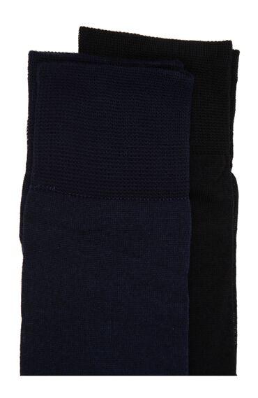 Bamboo Lacivert 2'li Çorap Set
