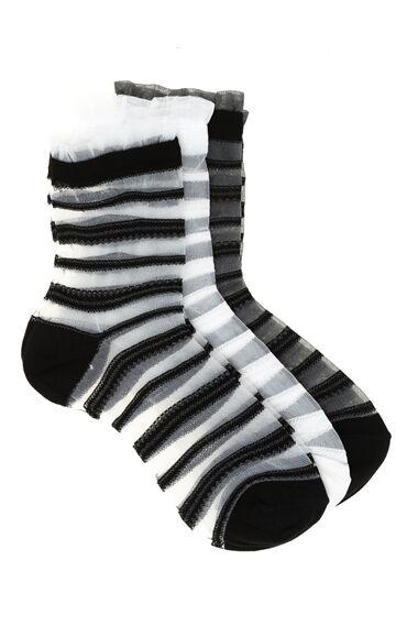 3 Lü Çizgili Çorap Seti