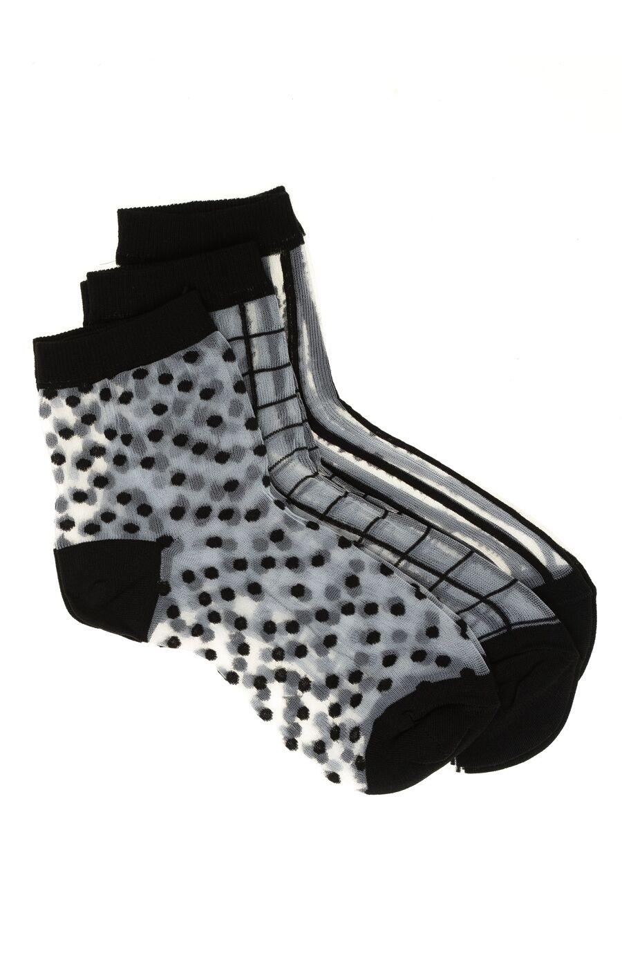 3 Lü Desenli Çorap Seti