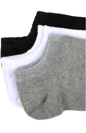 Beyaz 3'Lü Çorap Set