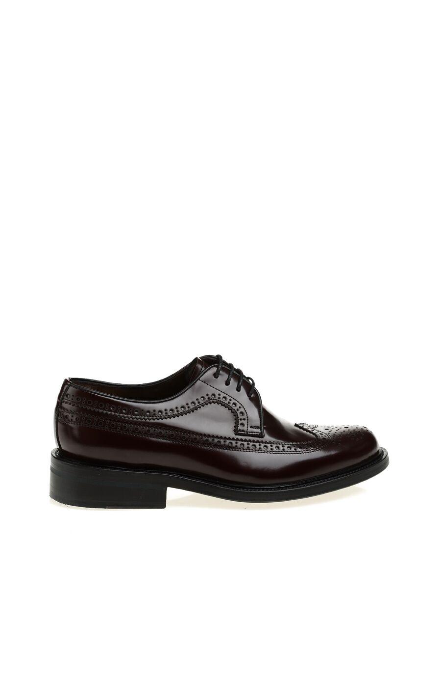 Bordo Bağcıklı Deri Erkek Ayakkabı