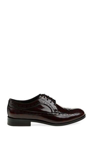 Zımbalı Tasarım Bordo Ayakkabı