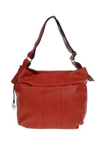 Dikiş Detaylı Kırmızı Çanta
