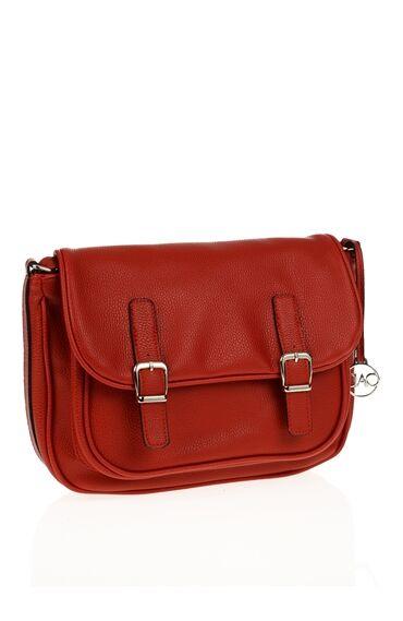 Toka Detaylı Kırmızı Çanta
