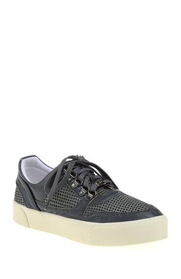 Perfore Detaylı Gri Sneaker