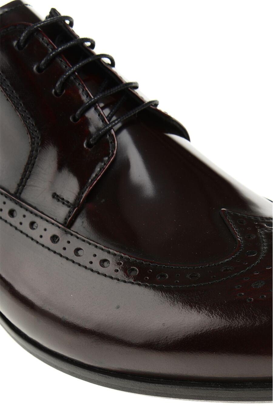 Zımba Desenli Bordo Ayakkabı