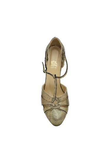 Altın Kadın Ayakkabı