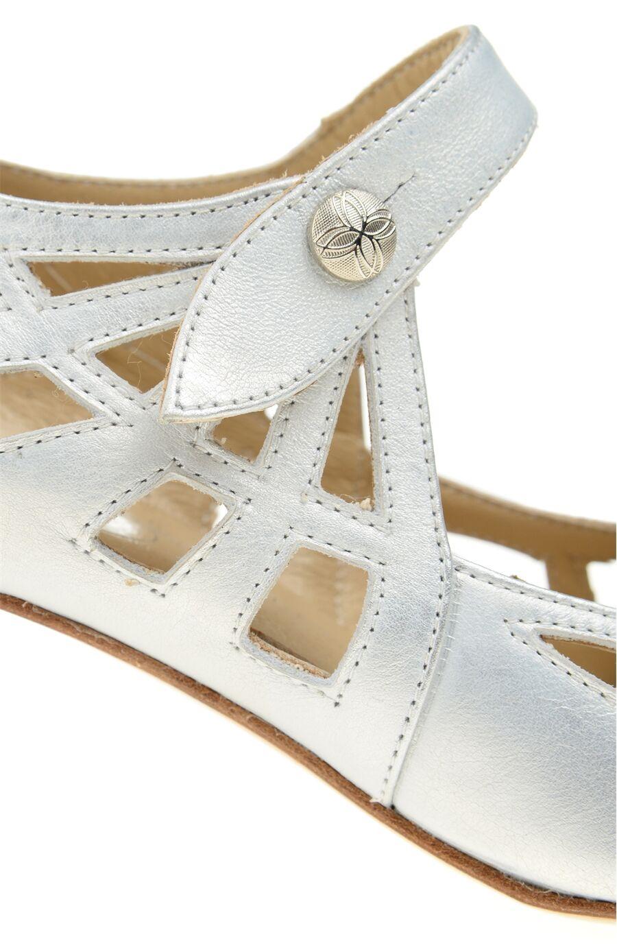 Gümüş Deri Ayakkabı