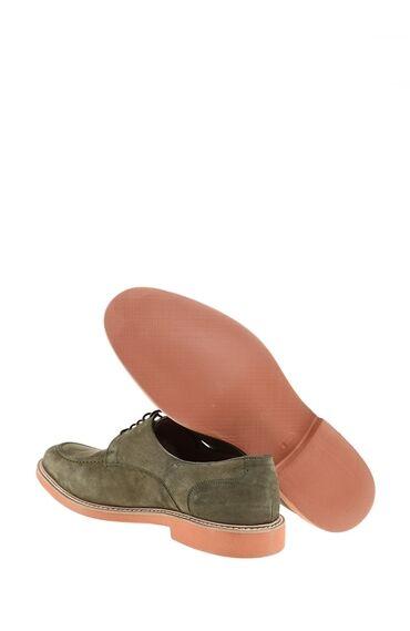 Bağcıklı Haki Deri Ayakkabı
