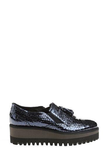 Püskül Detaylı Lacivert Ayakkabı