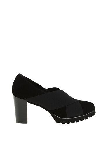 Bant Detaylı Siyah Ayakkabı