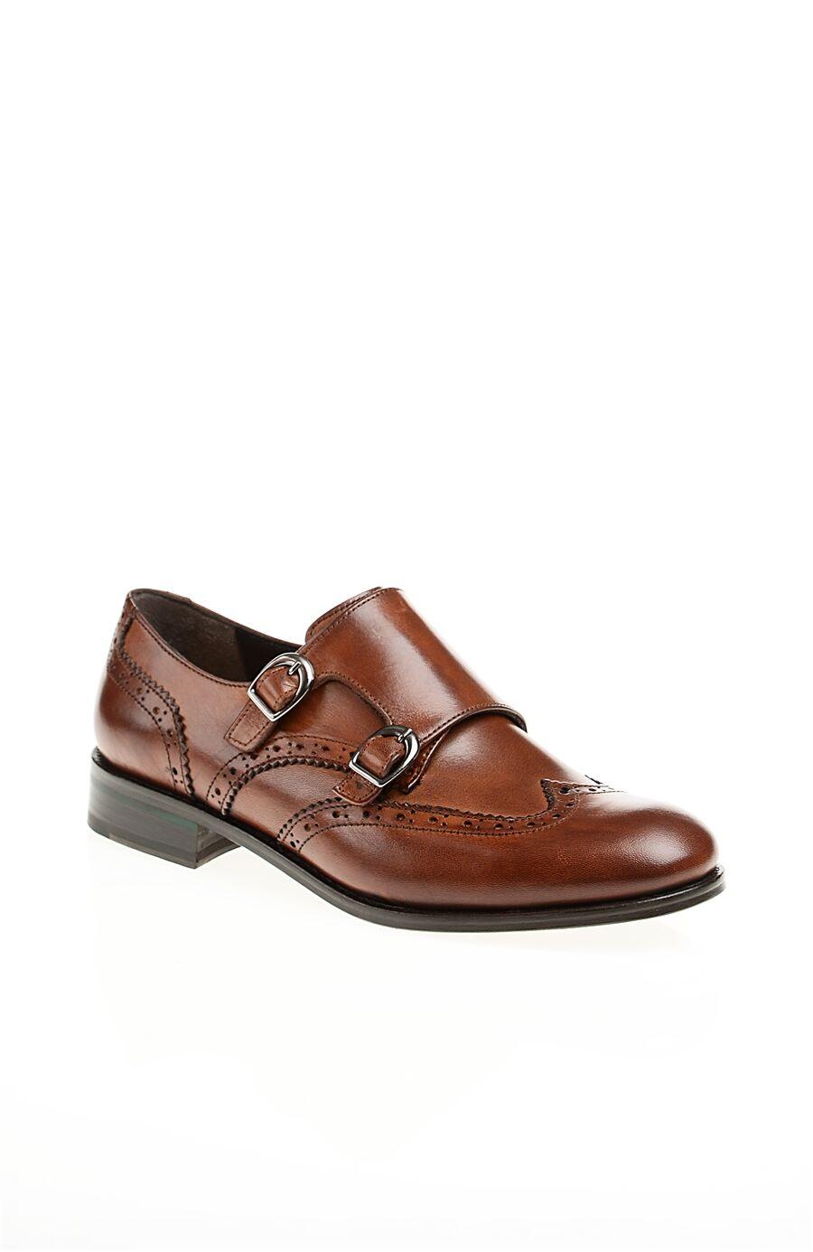 Tokalı Taba Deri Ayakkabı
