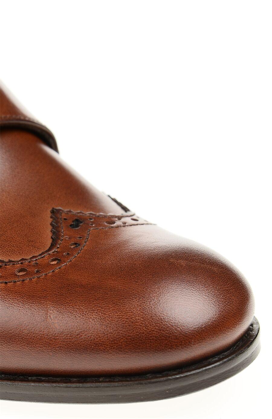 Tokalı Taba Deri Kadın Ayakkabı