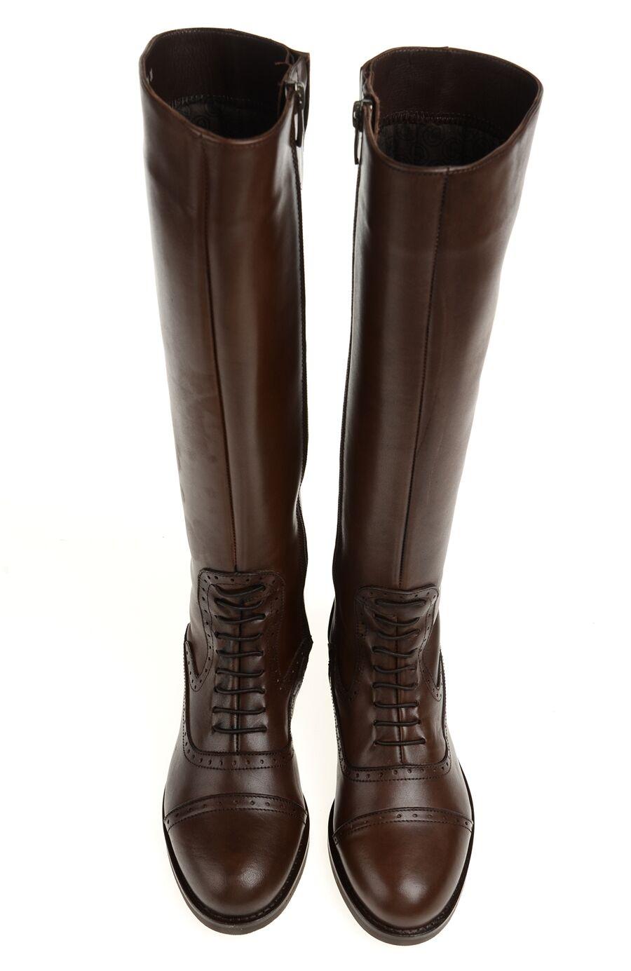 Zımba Detaylı Kahverengi Çizme