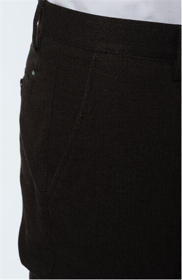 Armürlü Kahverengi Pantolon