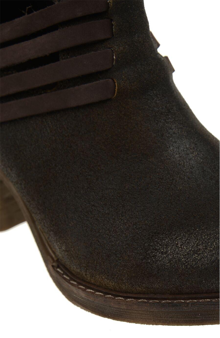Zımbalı Kahverengi Deri Bot