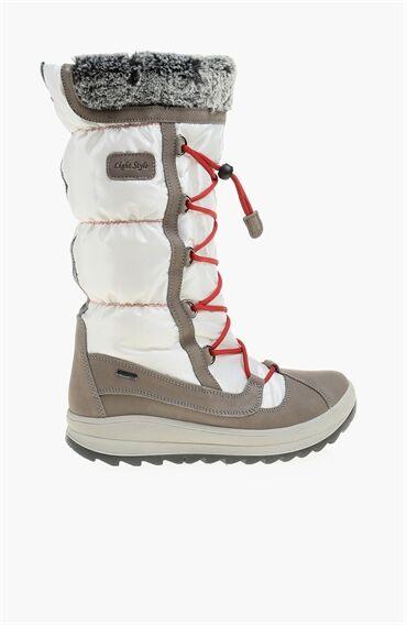 Nubuk Beyaz Kadın Çizme
