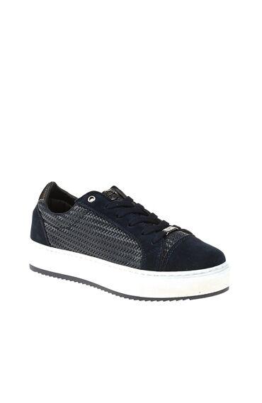Örme Detaylı Lacivert Sneaker