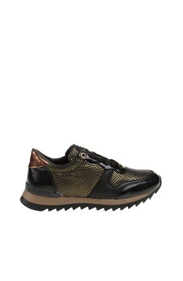 Yılan Derisi Baskılı Sneaker