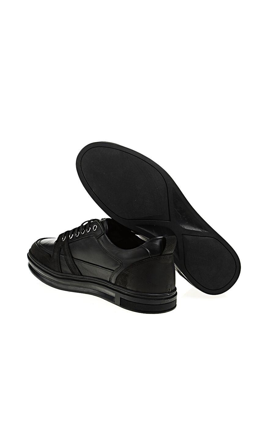 Siyah Deri Sneaker