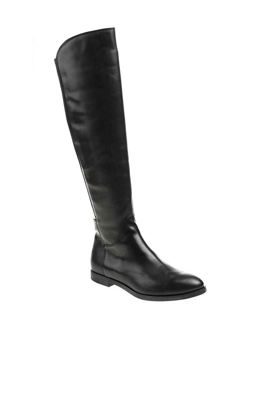 Baskı Detaylı Siyah Çizme