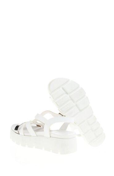 Bantlı Beyaz Sandalet