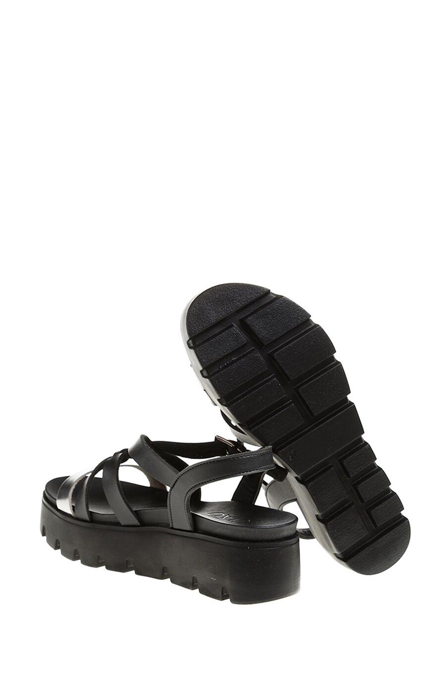 Bantlı Siyah Sandalet