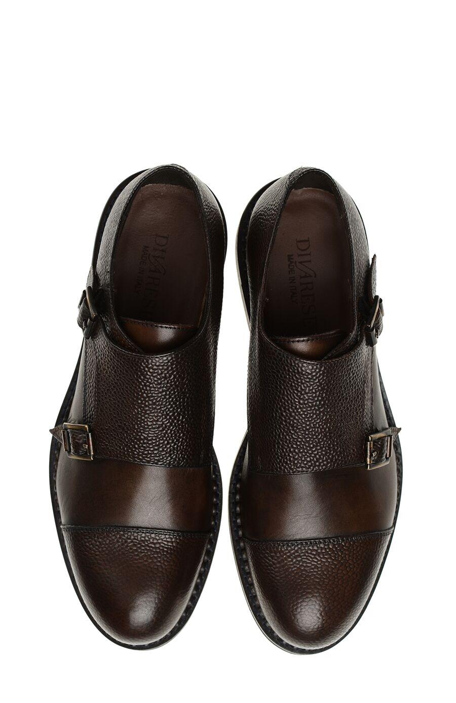 Kahverengi Tokalı Deri Ayakkabı