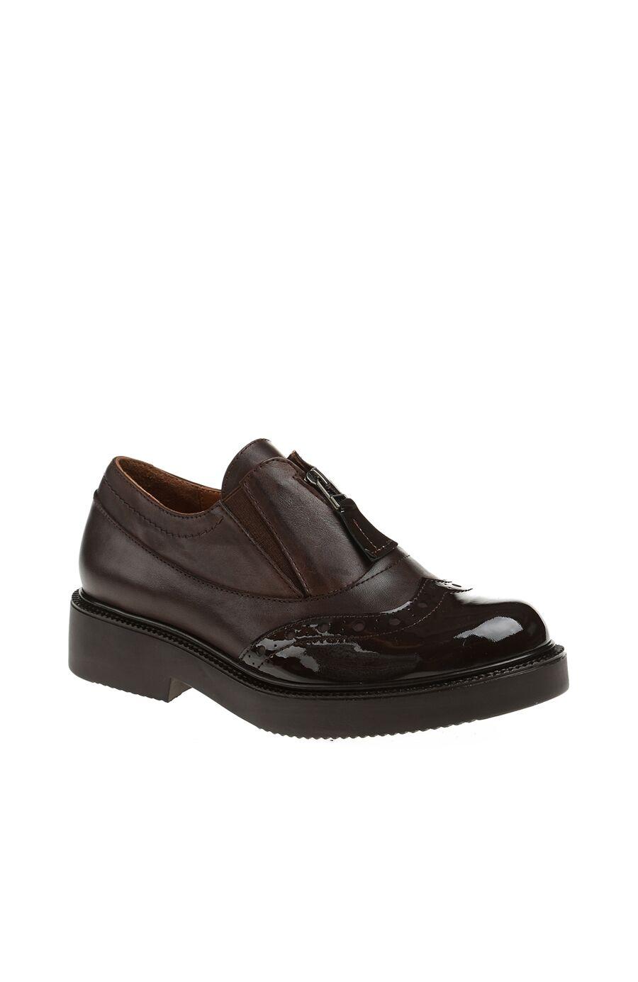 Fermuar Detaylı Kahverengi Ayakkabı