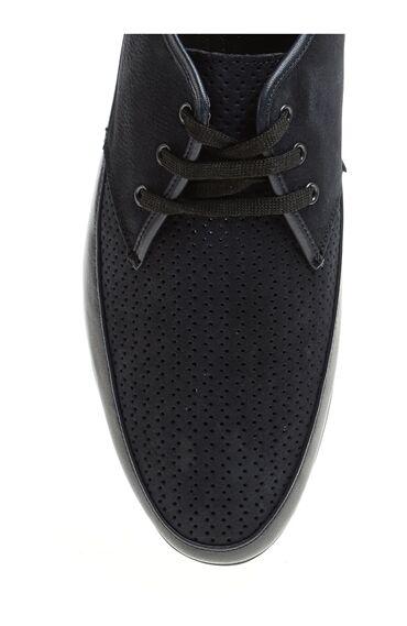 Perfore Detaylı Lacivert Ayakkabı
