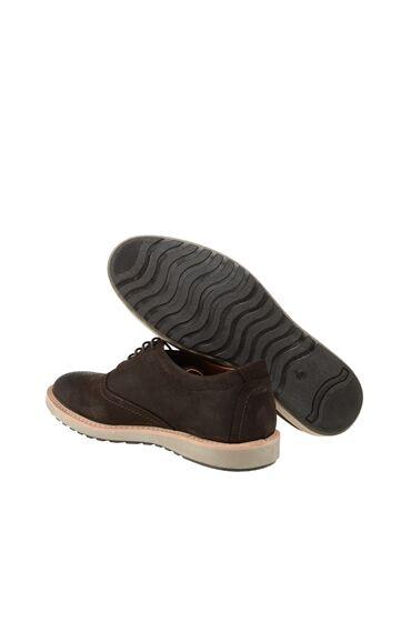 Bağcıklı Kahverengi Nubuk Ayakkabı