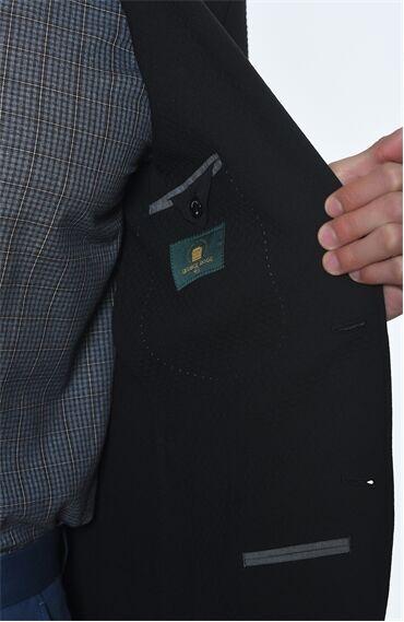 Siyah Desenli Ceket