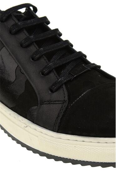 Kamuflaj Desenli Siyah Sneaker