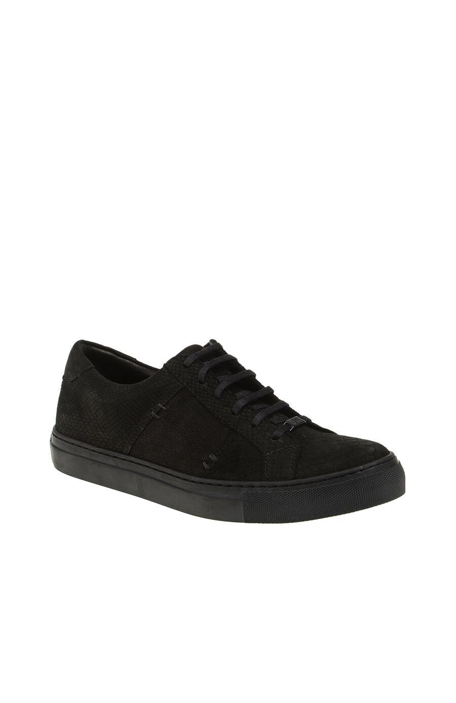 Baskı Detaylı Siyah Sneaker