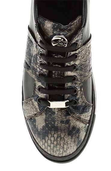 Yılan Baskı Siyah Sneaker