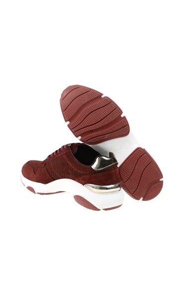 Bordo Süet Sneaker