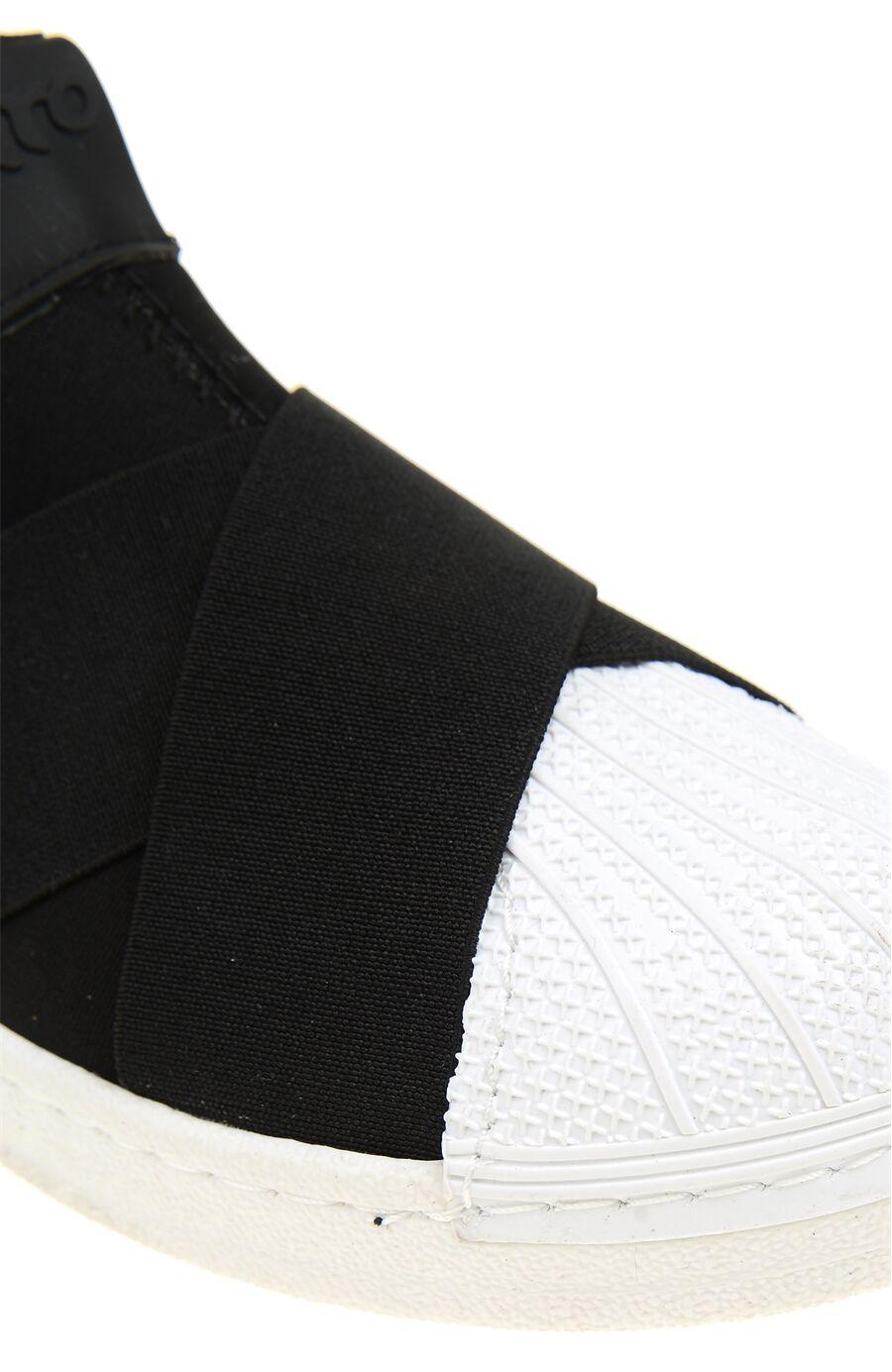 Lastik Detaylı Siyah Sneaker