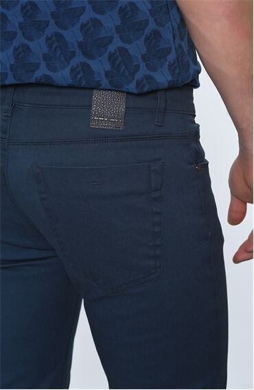 Slım Fit Indigo Denım Pantolon
