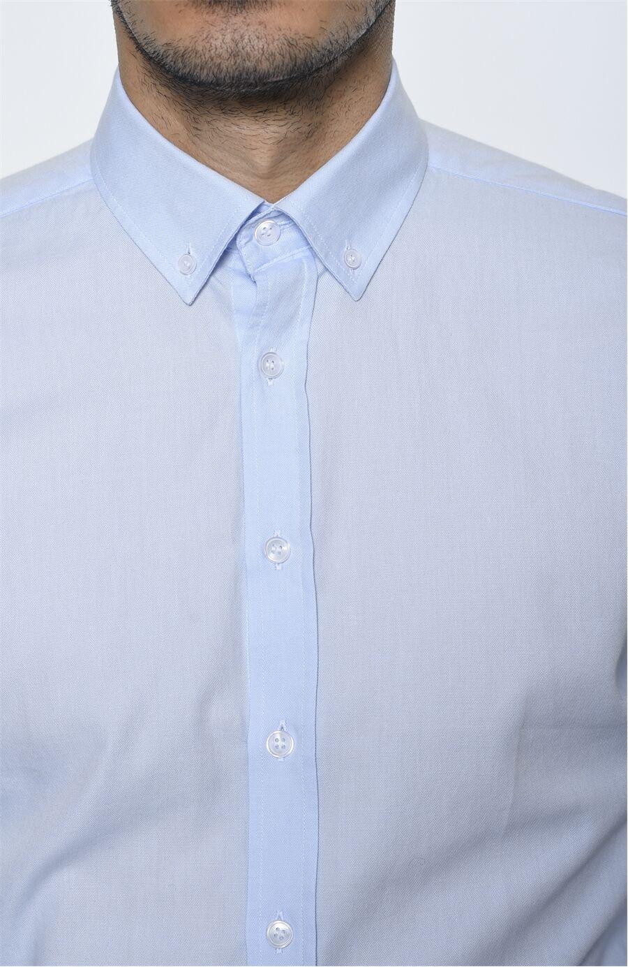 Açık Mavi George Hogg Gömlek