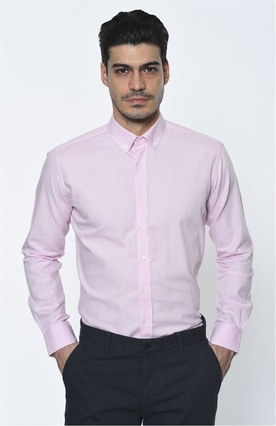 Oxford Regular Fit Pembe Gömlek