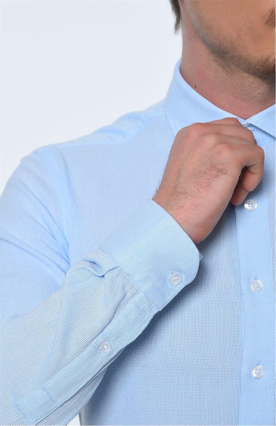 Rahat Kesim Açık Mavi Gömlek